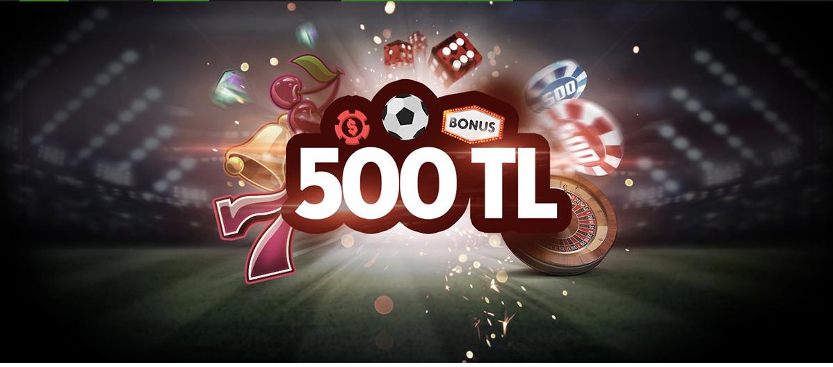 500 TL'ye kadar %50 Para Yatırma Bonusu